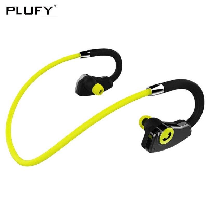 PLUFY Bluetooth Kopfhörer Sport Drahtlose Kopfhörer Ohr Haken Audifonos Sweatproof Headset Auriculares Inalambrico Écouteur Ohrhörer