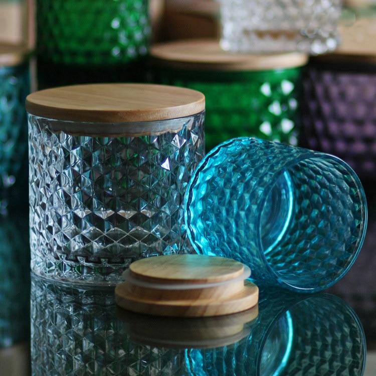 Popular decorative glass jars with lids buy cheap for Designer glass jars