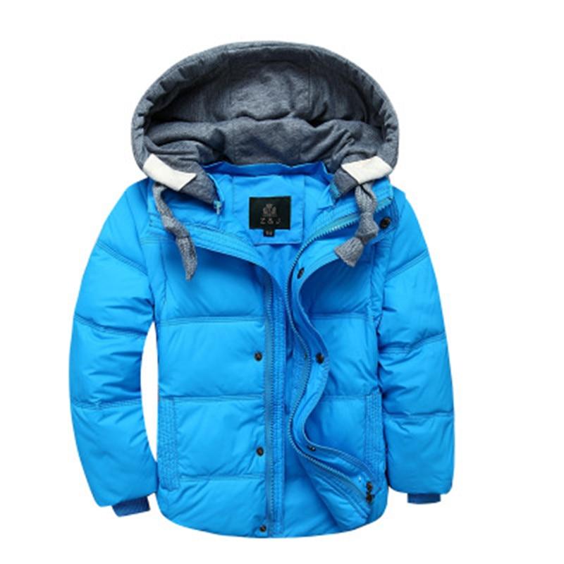 2017 New Winter Children Boys Girl Down Jacket Detachable Kids Warm Down Parkas Outwear Winter Hooded Long Sleeve Coat