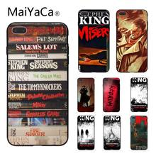 Maiyaca Stephen King Buku Smart Cover Hitam Lembut Shell Ponsel Case untuk iPhone 6 6S 6Plus 6 S Plus 8 8 PLUS 5 5 S 5C(China)
