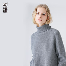 Toyouth Slim Sweater Women 2018 Autumn Spring Knitted Sweater Patchwork Long Sleeve Turtleneck Knitting Pullover Womens Sweaters(China)