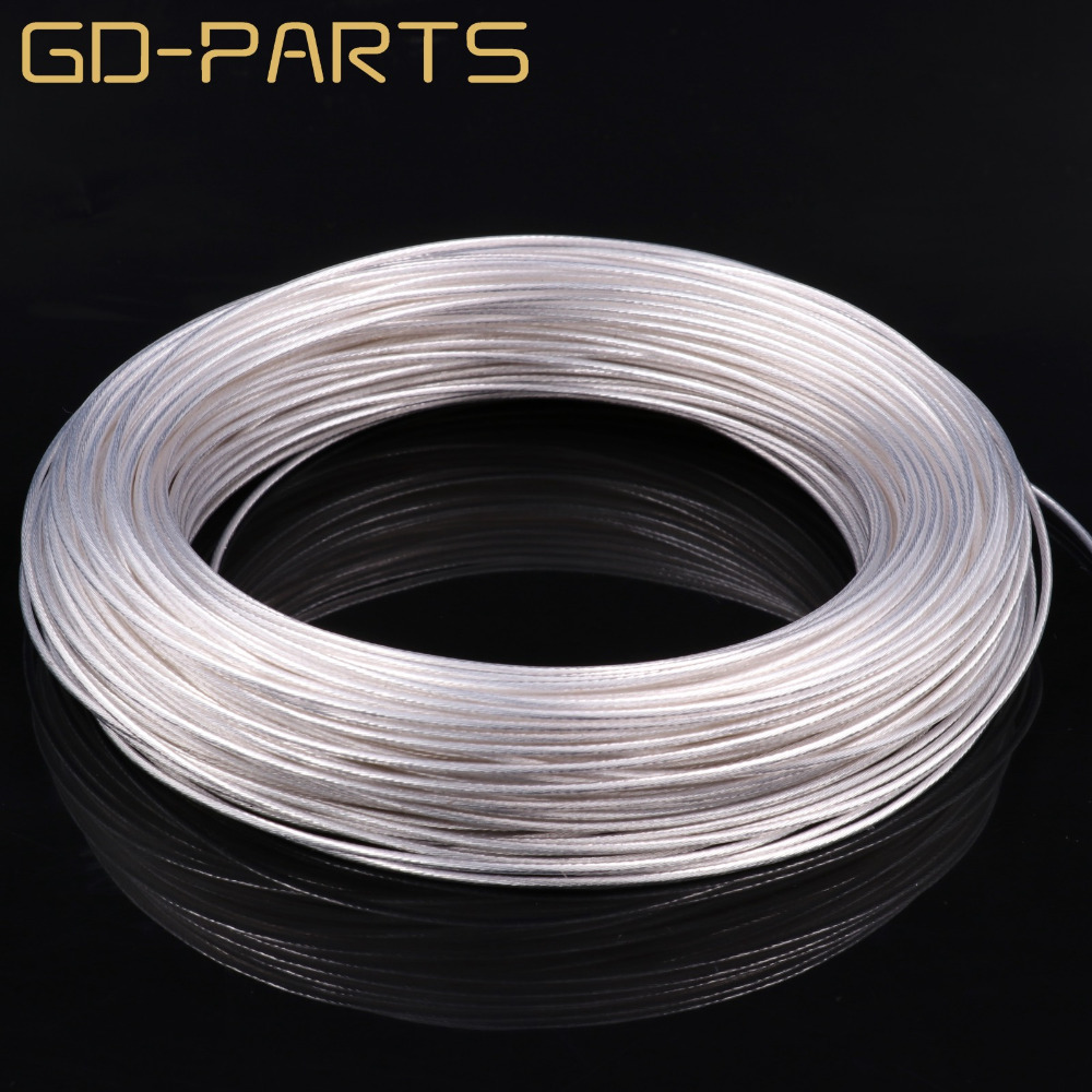 0.75mm2 High Purity Silver Plated OCC Teflon Wire Copper Cable For HIFI Audio DIY AMP Headphone Amplifier DIY 0.23mmx19 AWG18