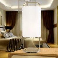 Nordic Einfache Kreative Metall Tuch Tischlampe postmodernen Schlafzimmer Hotelzimmer Nachttischlampe Geben Verschiffen Frei