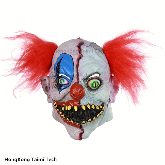 Rot the Clown Collector Halloween Scary Masks Horror Movie Clown Mask Two-Faced Latex Horror Dome