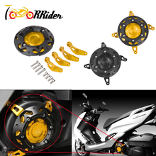 SMAX-155 Left & Right CNC Engine Stator Cover Protective Guard Slider Clutch for 2013-2015 Yamaha SMAX155
