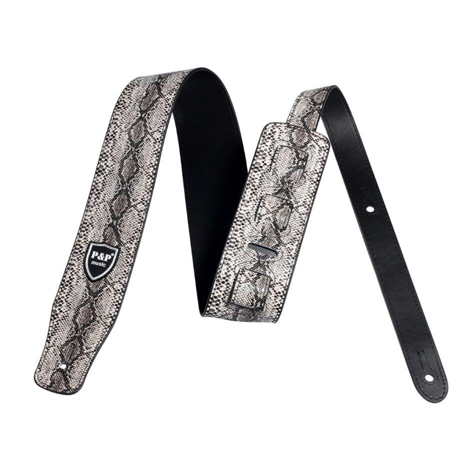 ALI shop ...  ... 32858513642 ... 4 ... Snake Skin Design PU Imitation Leather Guitar Strap For Electric Guitar Acoustic Guitar Folk Guitar Bass Strap ...