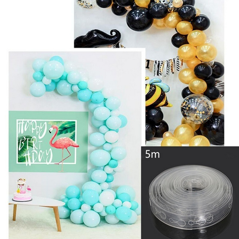 5m Transparent Balloon Irregular Decorating Strip Connect Chain DIY Arch