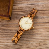 2018 New Brand Women's Watches Retro Japan Quartz Battery Wood Watch Women Women Wristwatches For Ladies Watches Relojes Mujer