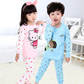 1pcs Free shipping LVANITA Brand New Design unisex long Johns Kids Girls Boys 100% cotton thermal underwear sets for 3-16Years