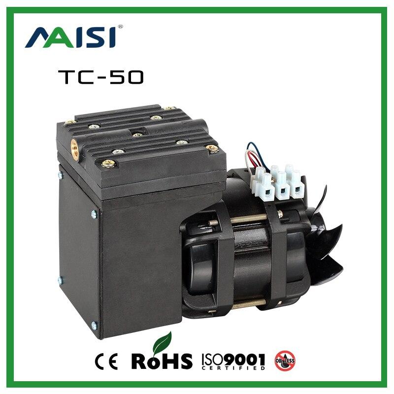2017 nouveau 110 V/220 V (AC) 25L/MIN 68 W petite pompe à vide électrique haute pression Micro pompe à diaphragme pump-TC-50 d'air professionnel