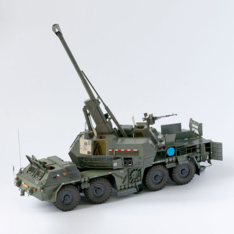 1:35 SPGH 3D Paper Model Space Library Papercraft Cardboard House Toys Automatic Cannon Self-propelled Howitzer Military Model