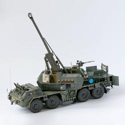1:35 spgh modelo de papel 3d espaço biblioteca papercraft papelão casa brinquedos canhão automático automotor howitzer modelo militar