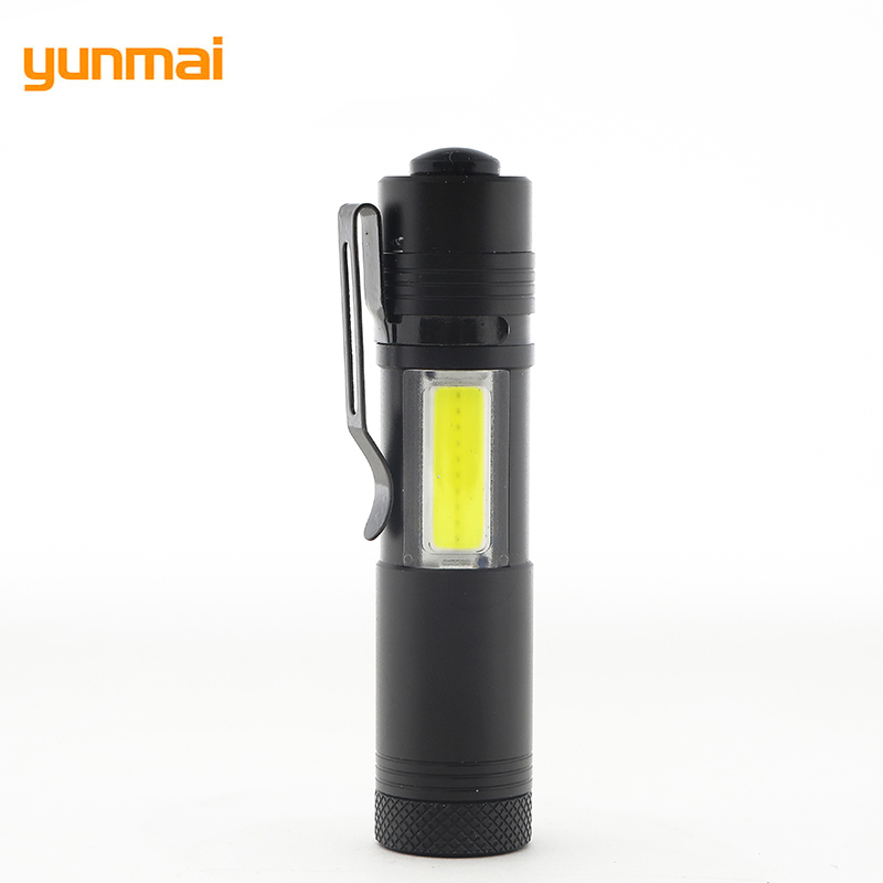 LED XPE+COB Mini Flashlight Hard Light Handy Penlight 4 Modes Switch Pocket Torch Hike Camping Flash Torch Zamlamp COB Lanterna
