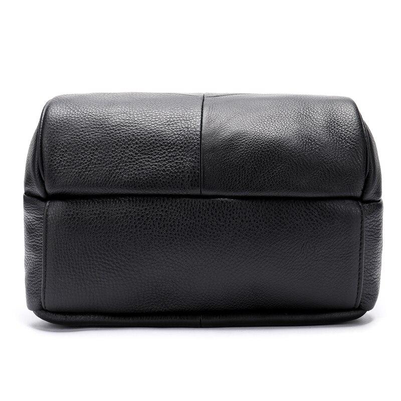 WESTAL vrouwen rugzak echt lederen schooltassen voor tienermeisjes rugzak zwart/rugzak voor laptop mochila feminina-in Rugzakken van Bagage & Tassen op  Groep 3