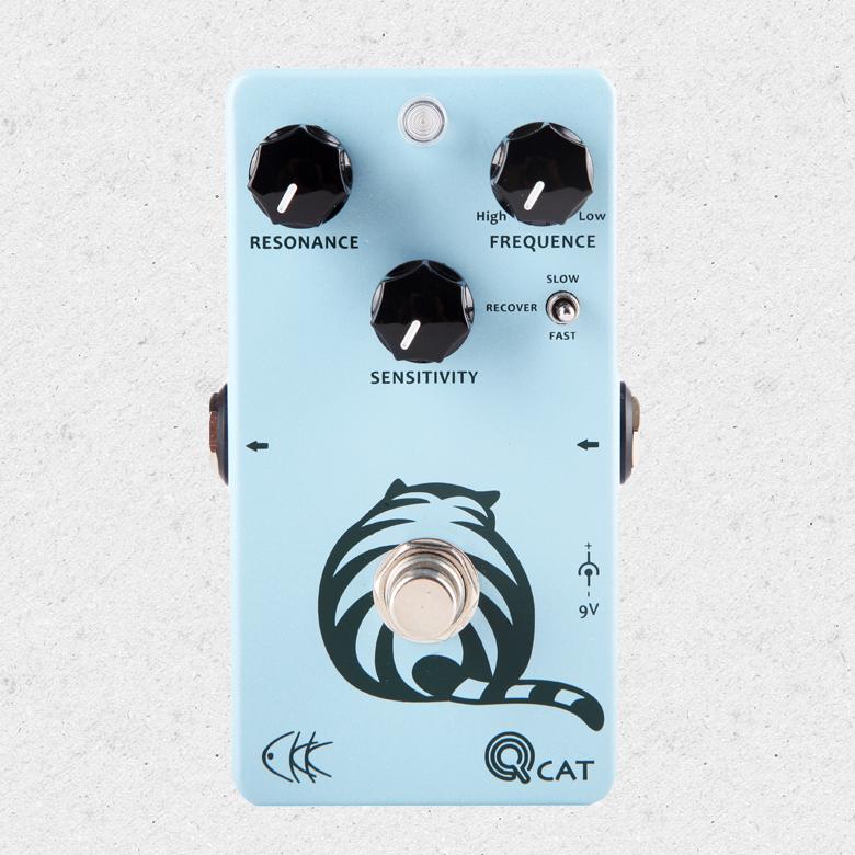 CKK Electronics Q-Cat Envelope Filter, a Special Wah Effect Guitar Pedal for Funk, Jazz, Blues vox wah v847 a