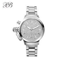 Quartz Wristwatches Galaxy Silver Crystal Brand Luxury Watch Women ladies Quartz Watch 2016 Relogio Feminino TT HL600B PB
