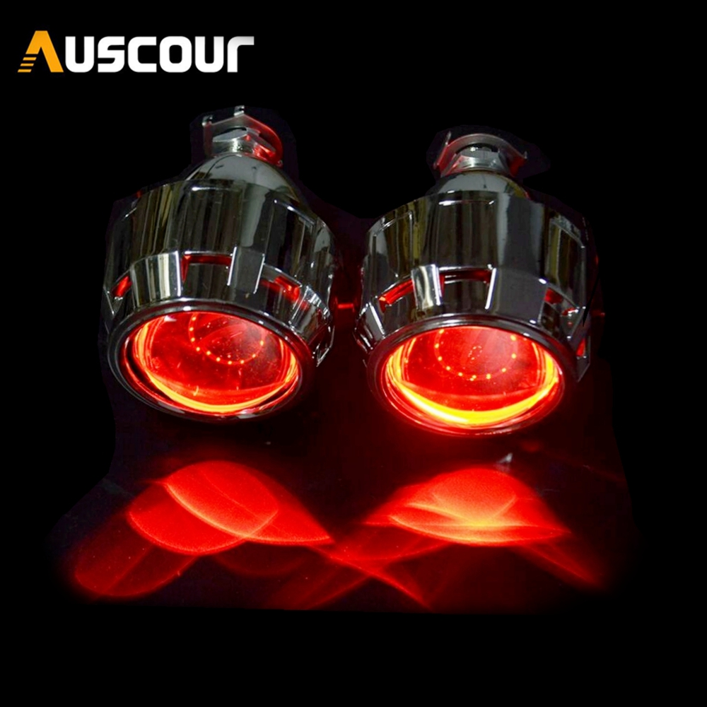 2.5inch bixenon hid Projector lens with cover shrouds mask H1 H4 H7 motorcycle lens car retrofit modify headlight-in Car Light Accessories from Automobiles & Motorcycles    1