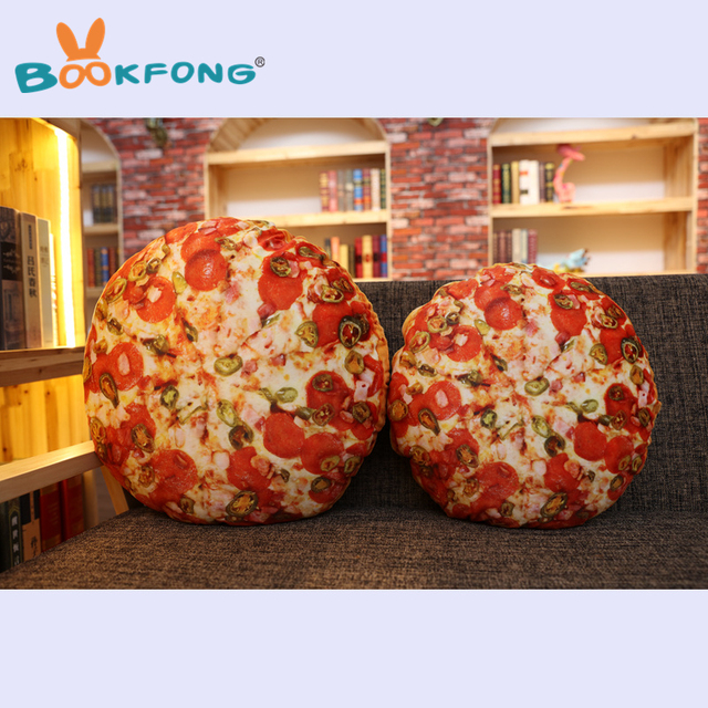 Bookfong 1pc Funny Simulation Pizza Bread Plush Doy Toy Sofa Pillow Creative Food Throw