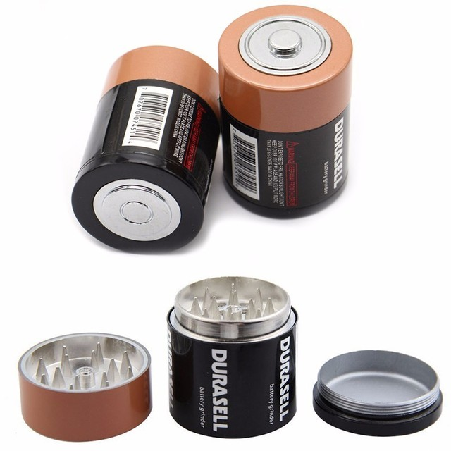 Creative Battery Shaped Metal Zinc Alloy Herb Weed Tobacco Grinder 2