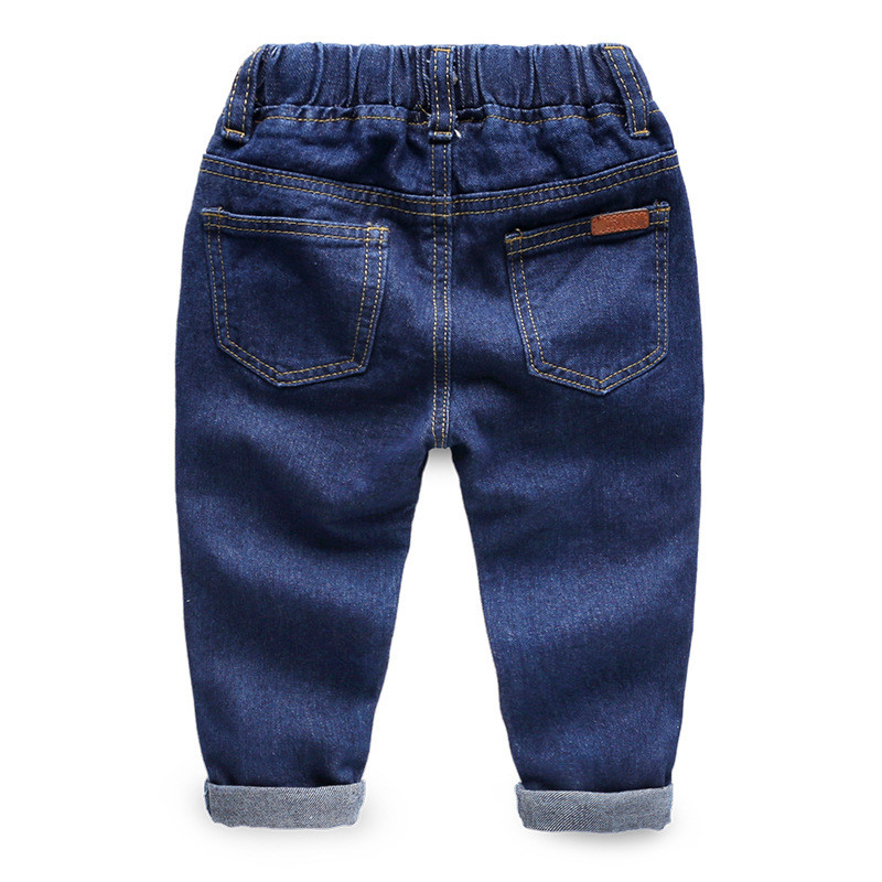 Jiuhehall Spring Autumn Children Cowboy Trousers Solid Casual Jeans For Kids 3 - 7 Years Baby Boys Full Length Pants CMB937 (2)