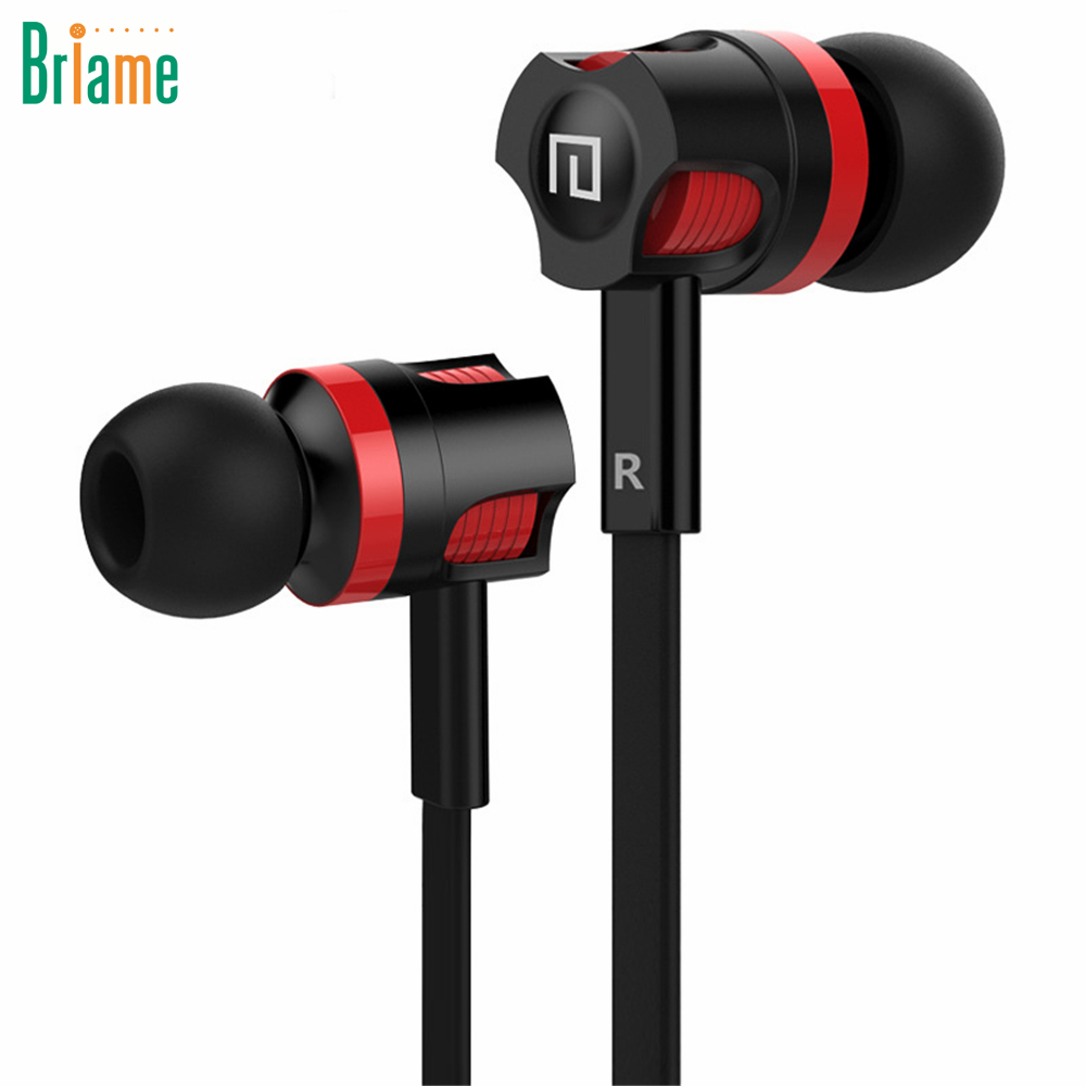Briame JM26 Earbuds Stereo Sport Headphone Noise Isolating Headset with Mic for iphone