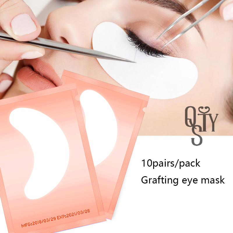 10pairs Eyelashes Patches Under Eye Pads Individual Eyelash Extension Paper Patches Eye Tips Sticker Wraps Eyelashes Patch