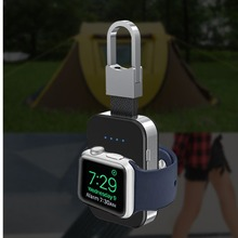 Qi carregador sem fio para apple relógio de pulso banda 4 42mm/38mm iwatch 3 4 portátil inteligente bloco bateria externa chaveiro power bank