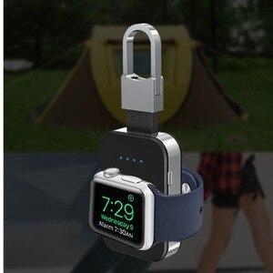 Image 1 - Qi carregador sem fio para apple relógio de pulso banda 4 42mm/38mm iwatch 3 4 portátil inteligente bloco bateria externa chaveiro power bank