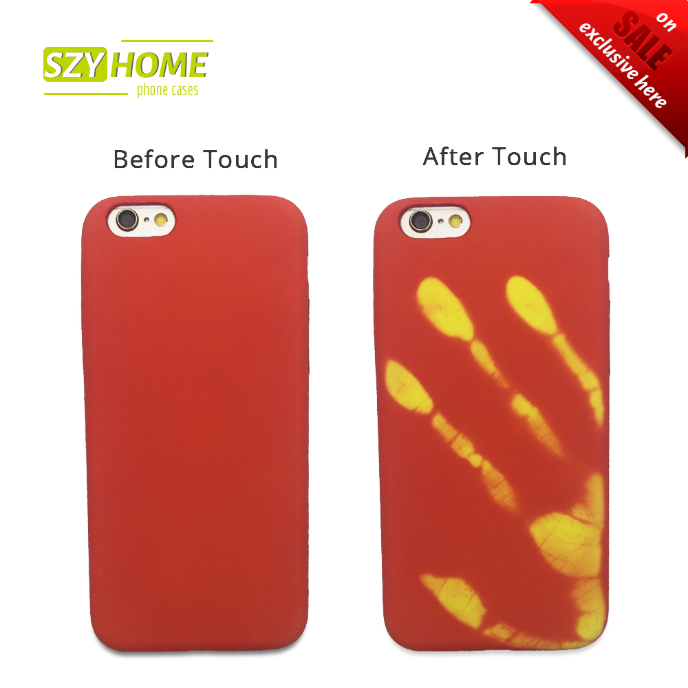 szyhome phone cases for iphone 6 6s 7 plus magical thermal induction hot discoloration for. Black Bedroom Furniture Sets. Home Design Ideas
