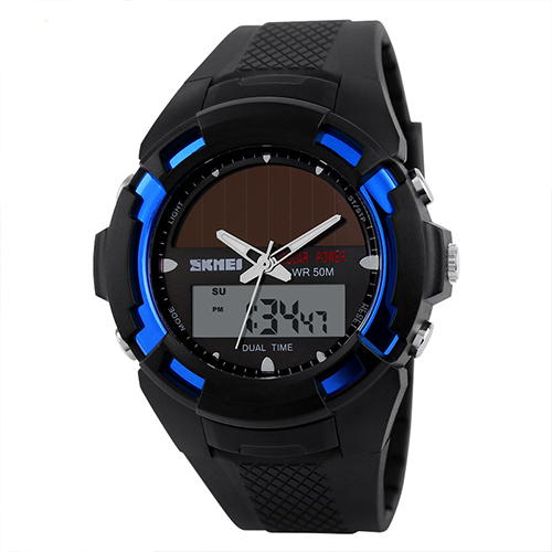 2016 Skmei Solar Man Watch Quartz Waterproof  Watches Men Boys Fashion Military Kids Sports Watches Relogio Masculino Relojes 2017 new top fashion time limited relogio masculino mans watches sale sport watch blacl waterproof case quartz man wristwatches