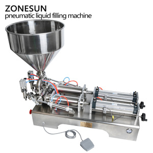 Image 4 - ZONESUN כפול ראשי מכונת מילוי אוטומטי פנאומטי הופר שמפו קרם לחות קרם קוסמטי שמן דבש