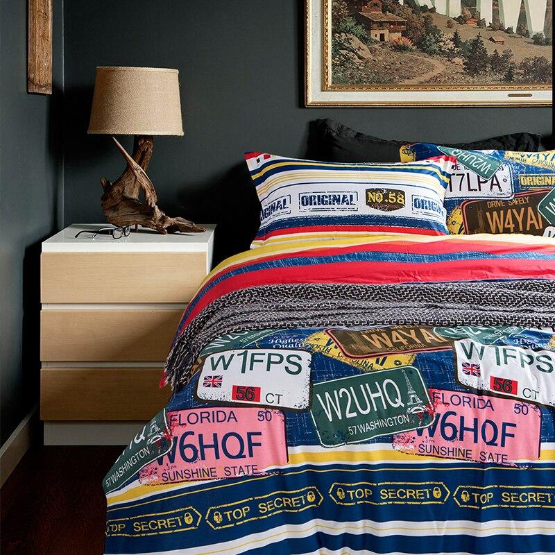 hitam dan putih selimut penutup remaja seprai bed cover keren selimut murah mencakup busana sprei bergaris bed set koboi tempat tidur di set