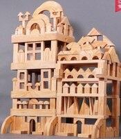 Grande, grande bloco, área de construção de centro de educação infantil do jardim de infância, super grande brinquedo de montar blocos de construção de madeira sólida chi