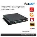 Codificador | CVBS HD streaming de vídeo ao vivo | AV | BNC | codificador composto entrada de áudio H.264 NTSC PAL dual CH para a igreja ao vivo fluxo