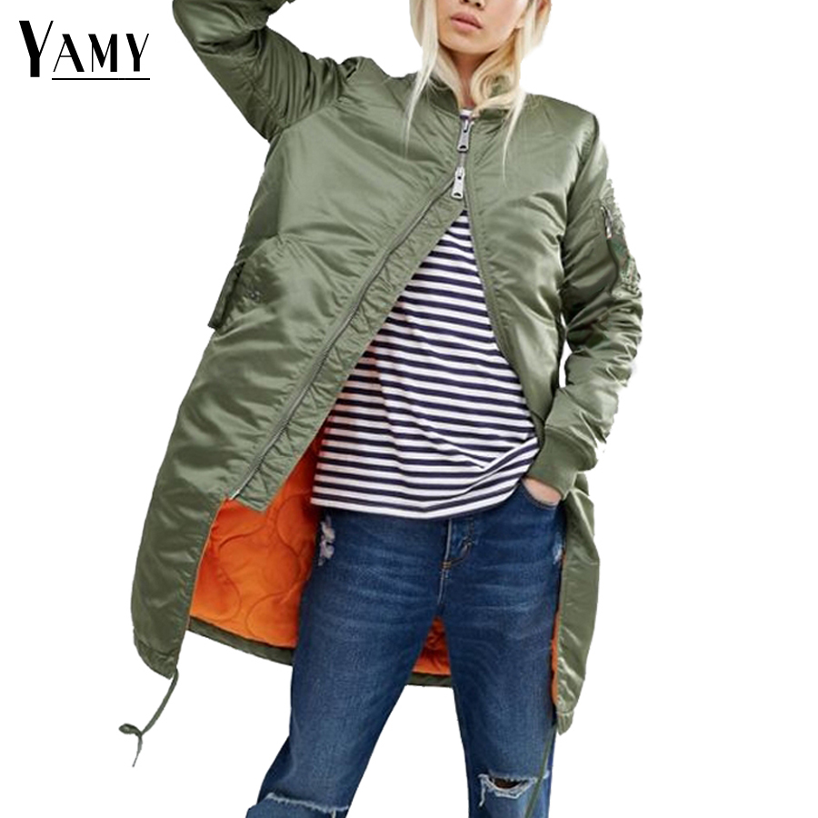 Winter long jackets and coats 2017 spring female coat casual