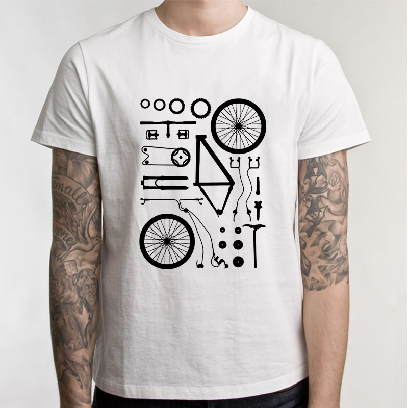 Funny T Shirt Men Boy Biking Exploded Mountain Biker Cycle Men Tshirt Short Sleeve Crew Neck Mens Clothing ...