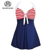 One Piece Swimsuit Plus Size Swimwear Women One Piece Bathing Suit Monokini Bodysuit Women Vintage Sailor