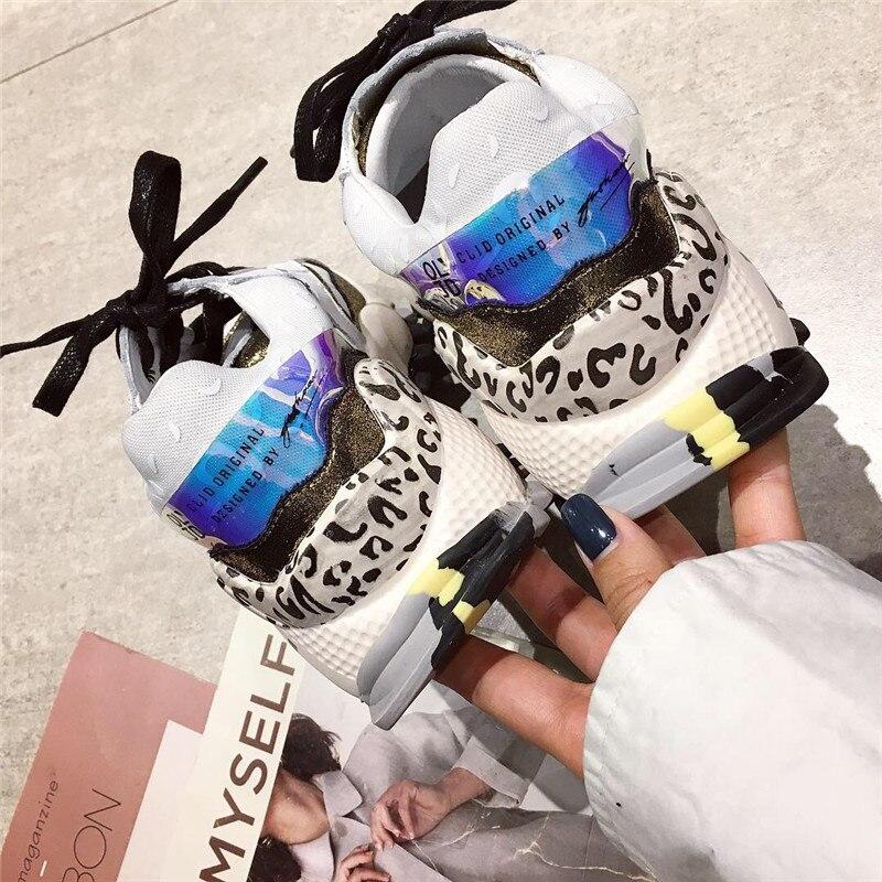 DORATASIA 2019 printemps nouveau Ins chaud Patchwork baskets femmes Split cuir fille mode plate-forme chaussures femmes chaussures femme décontractées - 5