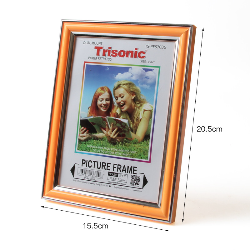 7inch Plastic Photo Frame Acrylic Wood Card Backplane Stand Table Display Photo Quadro Decoration TV Wall Frame Best Gift