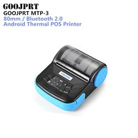 GOOJPRT MTP 3 80mm Portable Bluetooth 2.0 Thermal Printer Exquisite Lightweight Design Support Android IOS for Supermarket