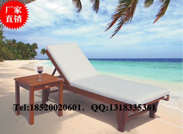Outdoor Pool Loungers Siesta Folding Chairs Outdoor Beach Lounge Chairs  Lying Bed Lying Bed Recliner Wood