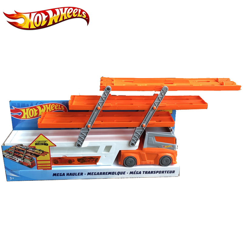 Hot Wheels Mega Hauler Track Toy Big Size Transporter Can Holds Up To 50 Cars Hotwheels Truck Toy Commemorative Edition Ftf68 #4