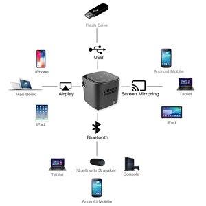 Image 3 - CRENOVA plus récent DLP projecteur Android 7.1.2OS Wifi Bluetooth pour Full HD 1080P Home cinéma film Mini projecteur Portable projecteur