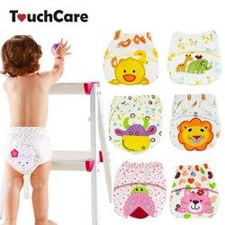 1 шт., милые детские подгузники, многоразовые памперсы, тканевые подгузники, моющиеся детские трусы, Детские тренировочные штаны, трусики дл...