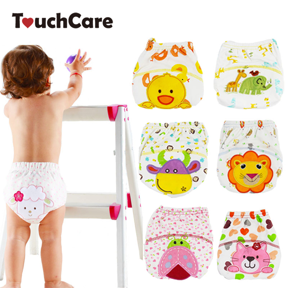 1Pcs Cute Baby Diapers Reusable Nappies Cloth Diaper Washable Infants Underwear Baby Training Pants Panties Nappy Changing