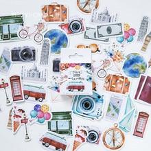 45 pcs/box Gift of life Creative mini paper sticker package DIY diary decoration album scrapbooking