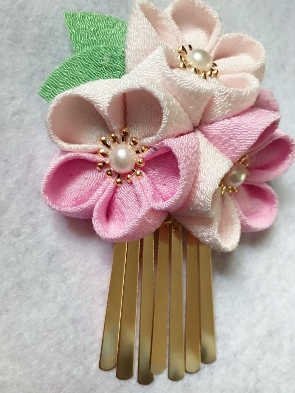 Japanese hair ornaments - Japanese Style Hairpin Hand Made Kimono Hair Accessories Cotton Cloth Flower Tassels Hair Clip Lovely Headwear