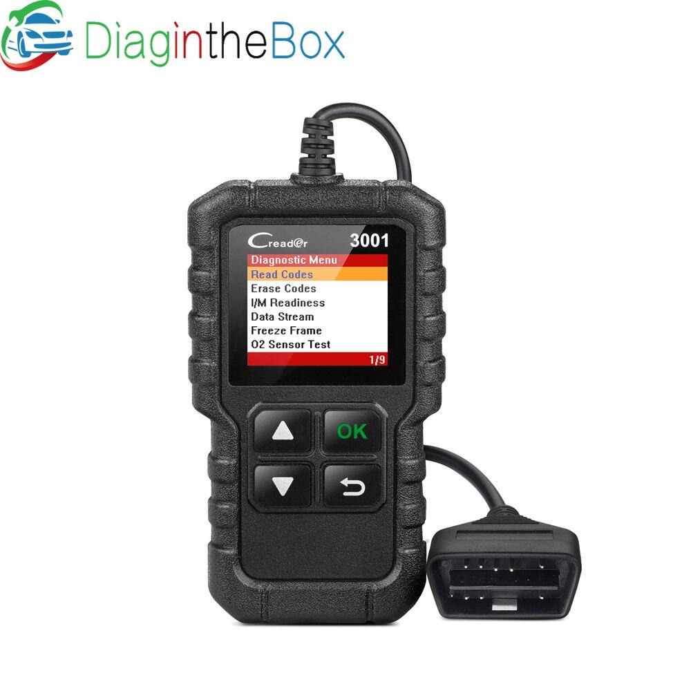 STARTEN X431 Creader 3001 OBD2 Code Reader Unterstützung Volle OBD 2 EOBD funktion CR3001 Auto Scanner PK AD310 NL100 ELM327