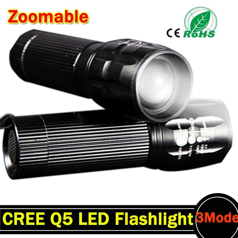 2000 lumen LED-zaklamp 3Mode Q5 LED-zaklamp Militaire LED-zaklamp - Draagbare verlichting