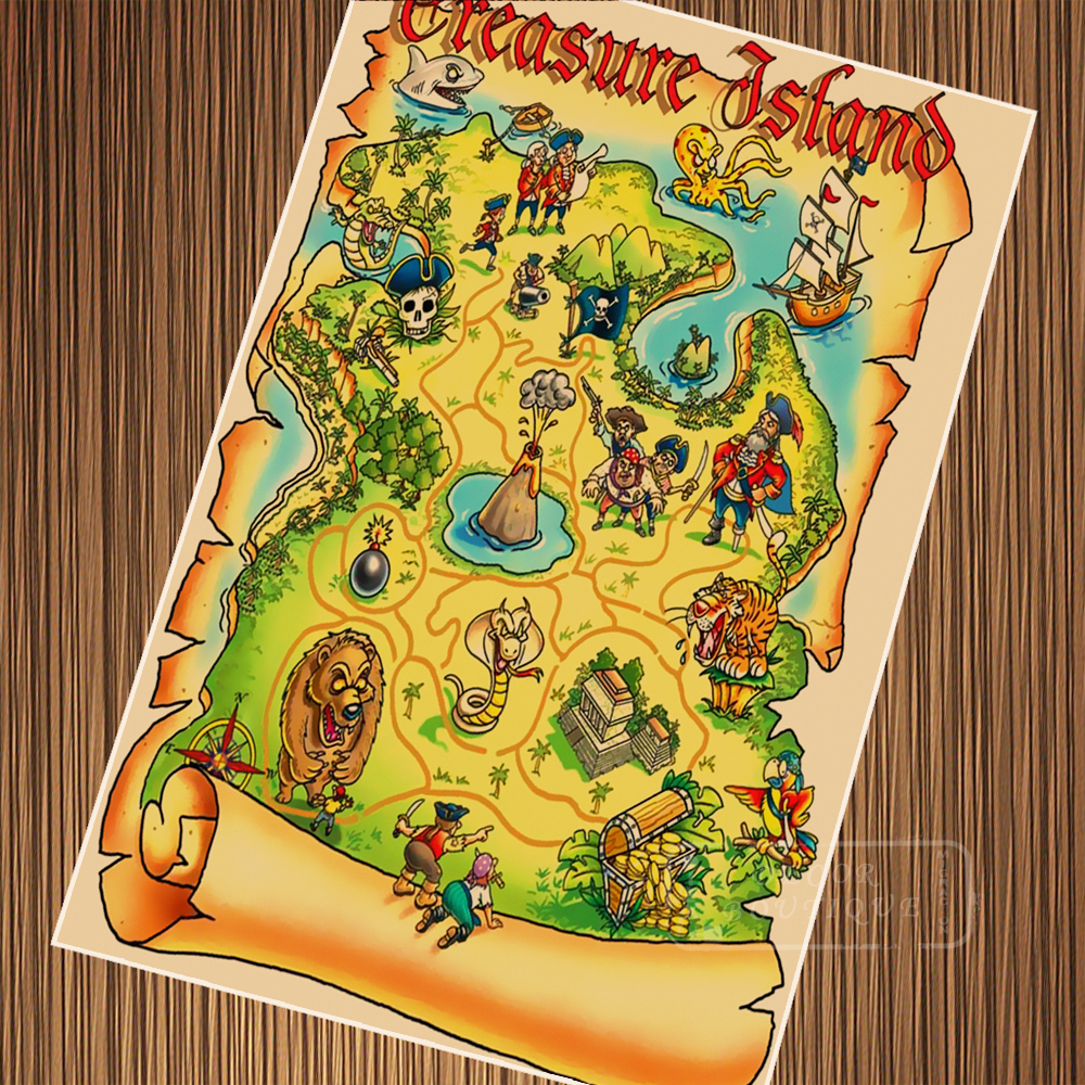 US $3.98 |Pop Art Pirate Pete Treasure Map Posters Retro Vintage Kraft on cruise map, old boston map, blood map, love map, ancient egyptian map, travel map, address map, monster map, money map, forest map, rail map, ocean map, army map, bad map, eso craglorn map, alien map, success map,